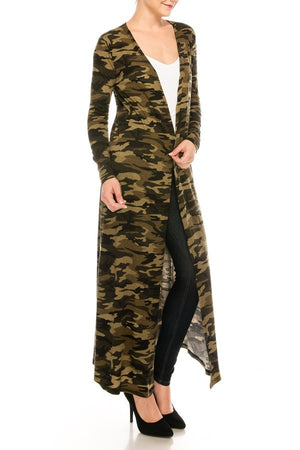 Camo Print Duster Cardigan | 2 Colors Available