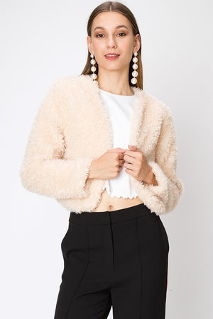Teddy Faux Fur Cropped Shrug | 3 Colors Available