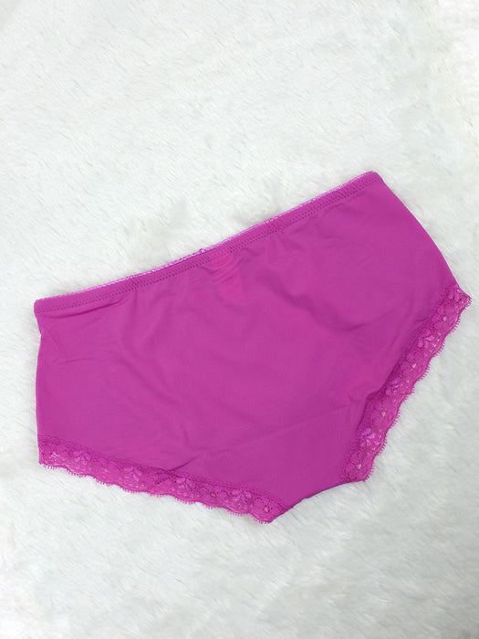 Silky Soft Lace Trim Hiphugger Panty FUCHSIA