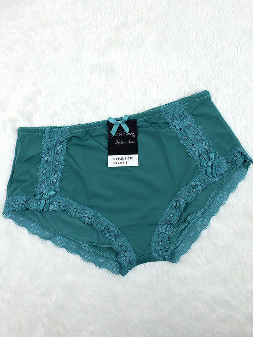 Silky Soft Lace Trim Hiphugger Panty TEAL