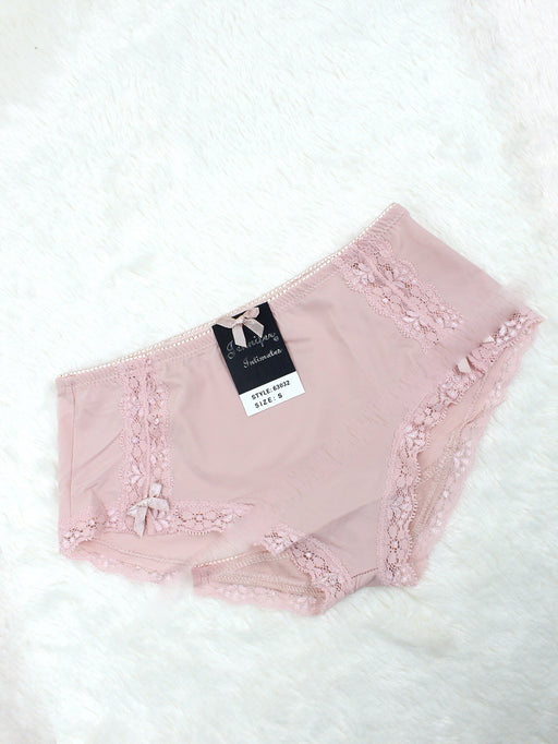 Silky Soft Lace Trim Hiphugger Panty NUDE