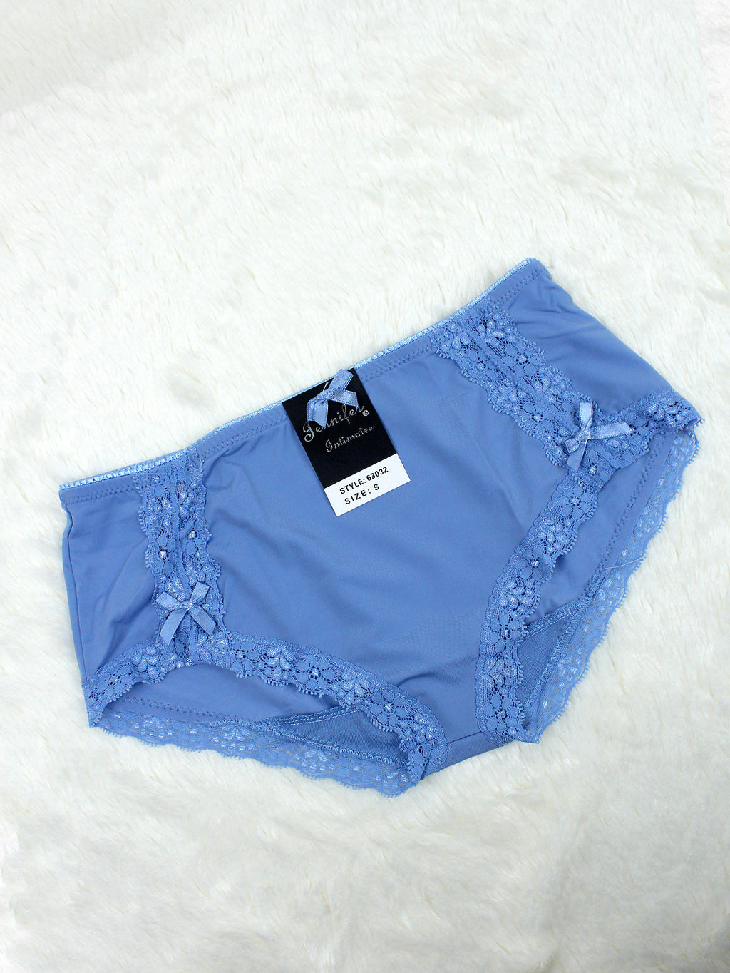 Silky Soft Lace Trim Hiphugger Panty SERENITY BLUE