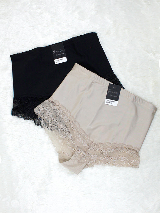 High Waist Lace Trim Panty Set of 2 / Set of 6