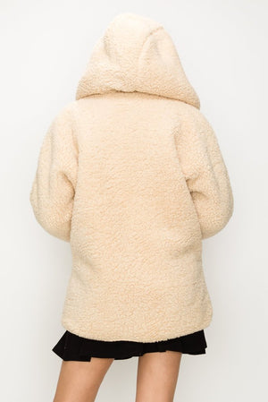 Teddy Reversible Hooded Coat | 3 Colors Available