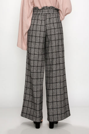 Paper Bag Waist Plaid Pants | 2 Colors Available