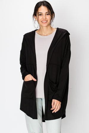 Long sleeve hooded cardigan | 3 Colors Available
