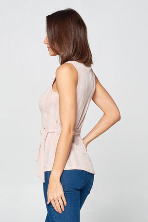 Solid V Neck Wrap Top | 2 Colors