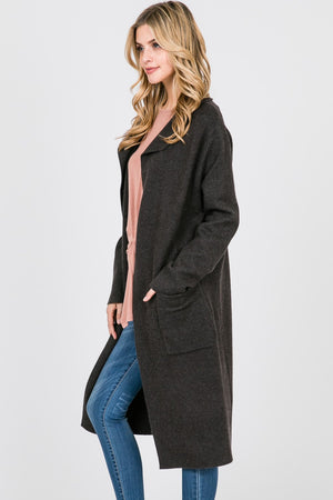 Solid Long Coat | 2 Colors Available