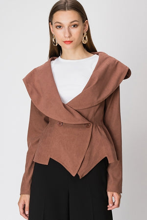 Ruffle Collar Belted Coat | 4 Colors Available