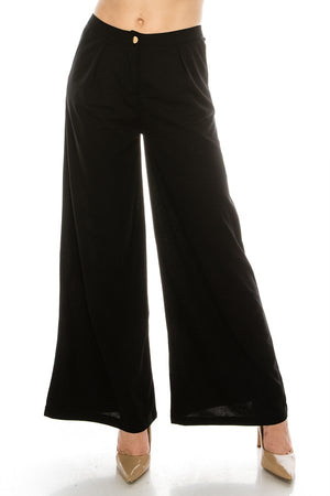 Solid Flowy Wide Leg Pants | 5 Colors Available