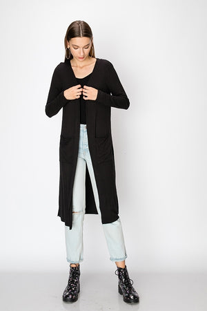 Ribbed Open Cardigan | 3 Colors Available