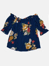 Floral Print Button Front Off Shoulder Blouse | 2 Colors