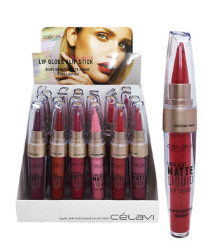 CELAVI Matte Lip Stick and Lip Gloss Duo