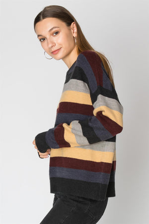 Multi Color Stripe Sweater | 2 Colors Available