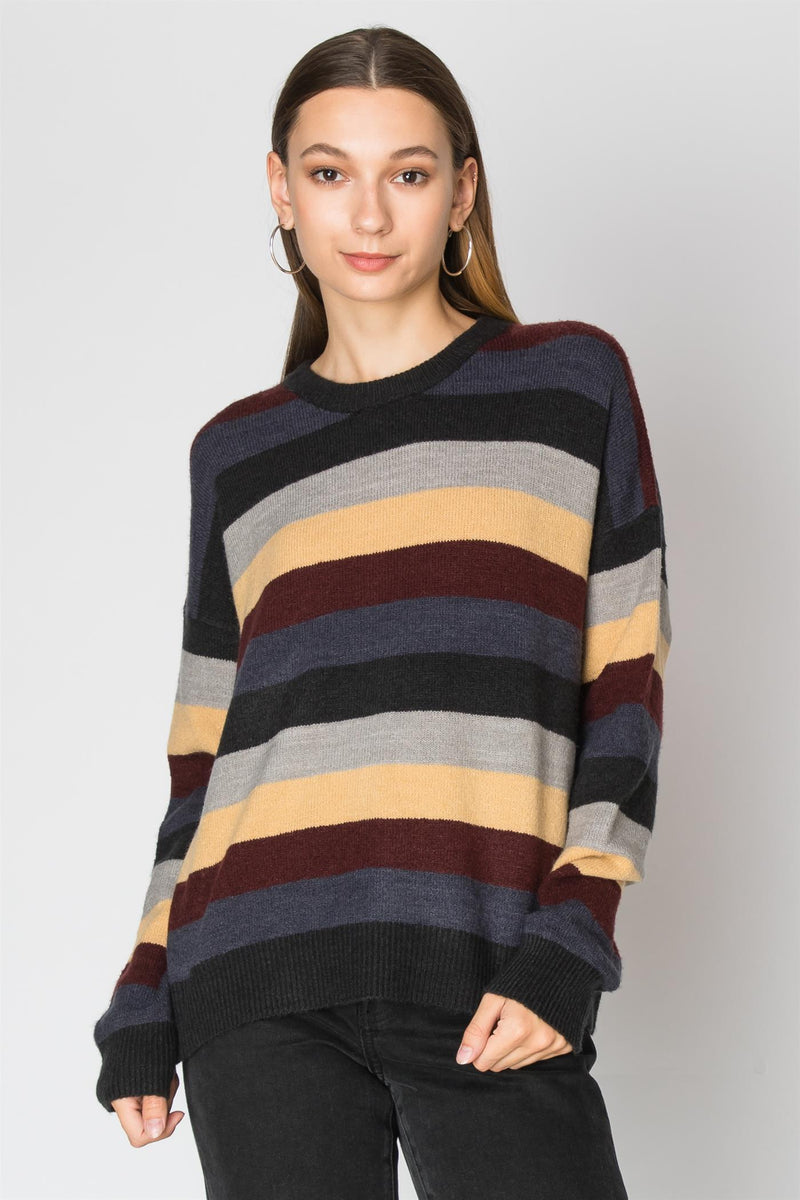 Mutli Color Stripe Sweater | 2 Colors Available