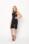 Side Open Chain Dress | 2 Colors Available