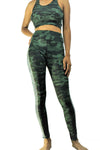 2-pc Camo Crop Top & Matching Legging