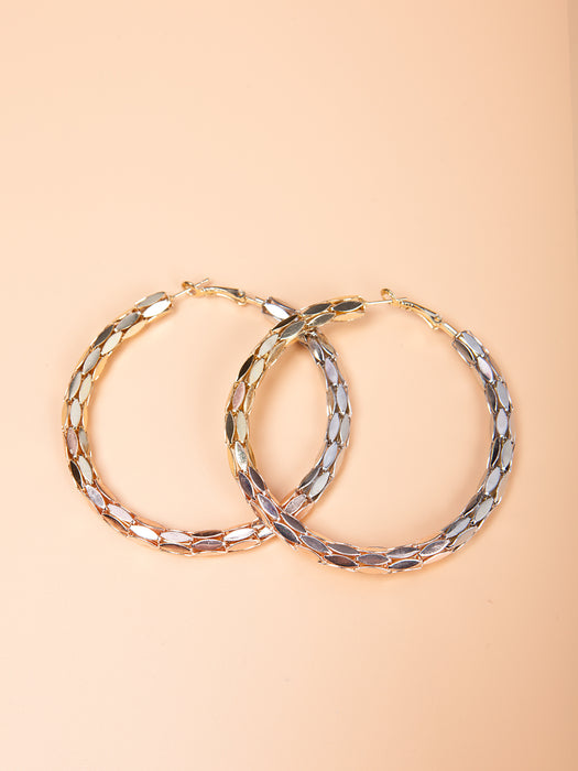 Metallic Bold Hoop Earrings