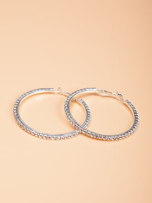 Star Studded Hoop Earrings