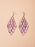 Faux Gem Leaves Drop Earrings | 2 Colors