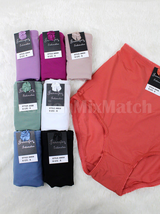 Silky High-Waist Color Panty (12pcs/PACK)