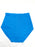 High Waist Butterfly Embroidered Front Zipper Pocket Panty BLUE