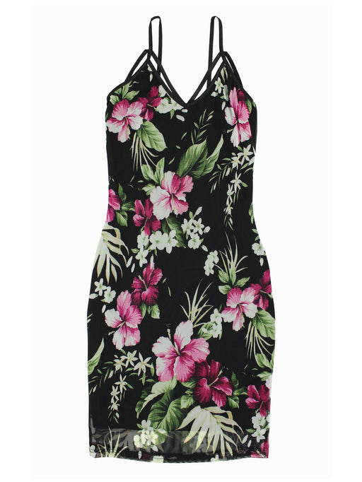 Strappy Floral Bodycon Cami Dress