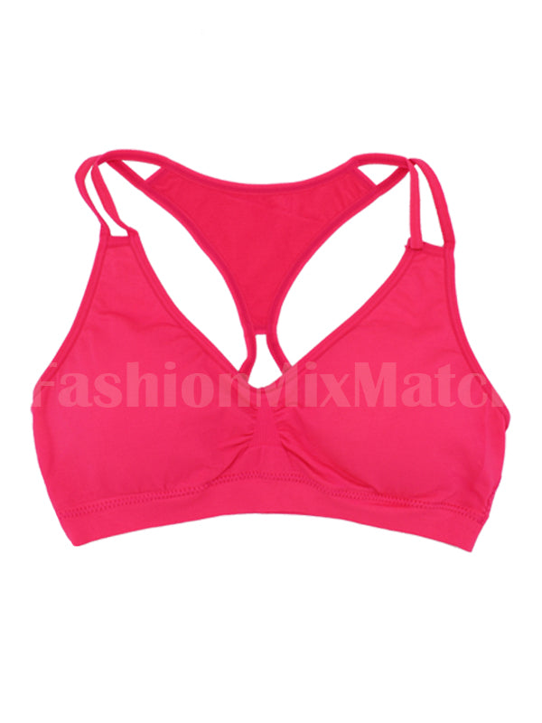 Double Strap Free Size Padded Sports Bra | 3 Colors