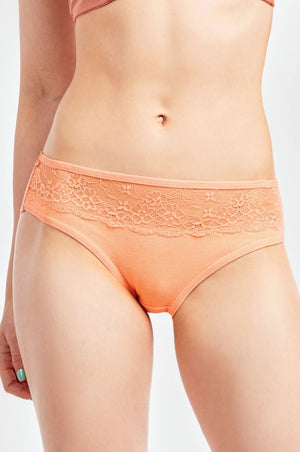 Mamia Ladies Cotton Bikini Panty w/Lace Detail at front 12pc/pack