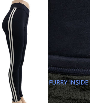 Furry soft stretch leggings