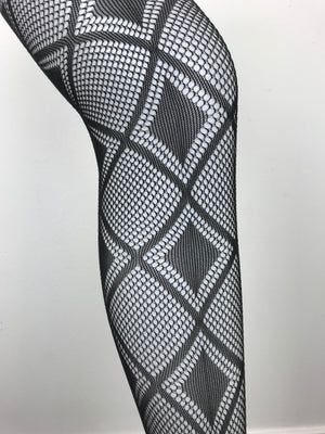 Black Diamonds On Diamonds Leggings