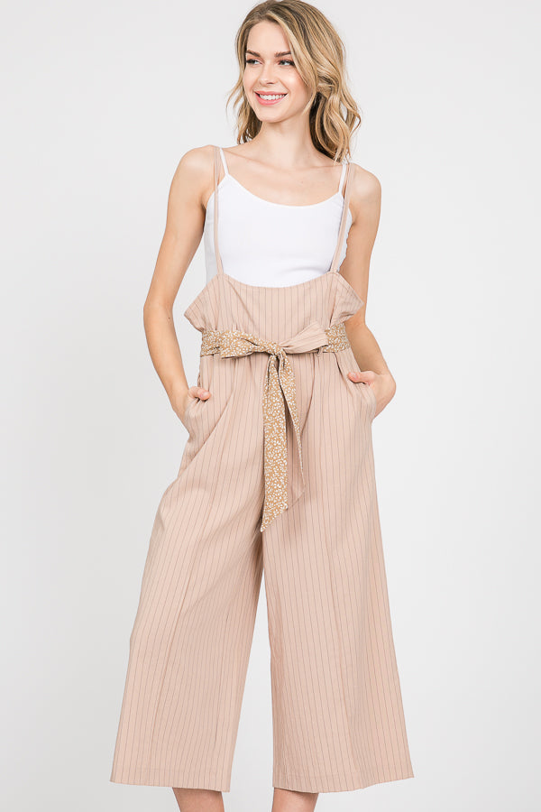 Pinafore Spaghetti Strap Jumpsuit | 2 Colors