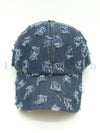 Vintage Frayed Denim Baseball Cap