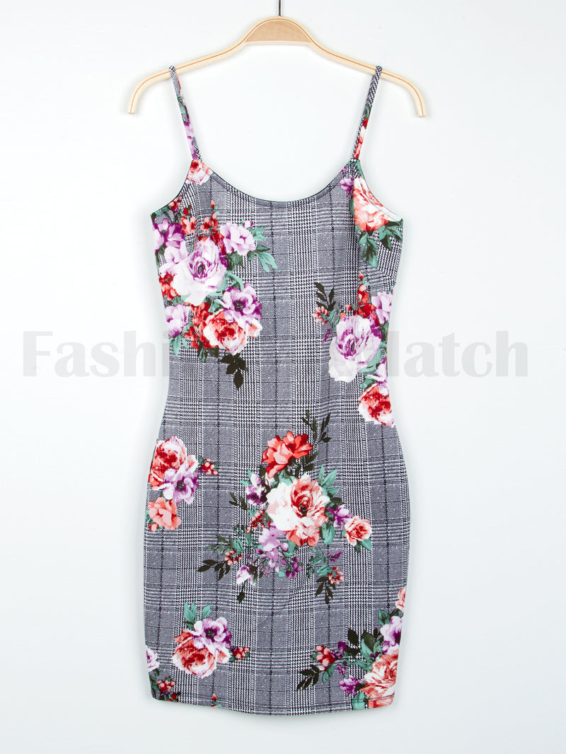 Floral Detail Cami Bodycon Dress
