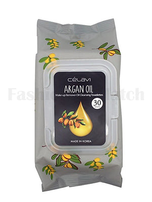 CELAVI Argan Oil Make-up Remover Oil Cleansing Towelettes