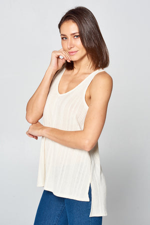Flowing Tank Top w/ Texture Design | 2 Colors