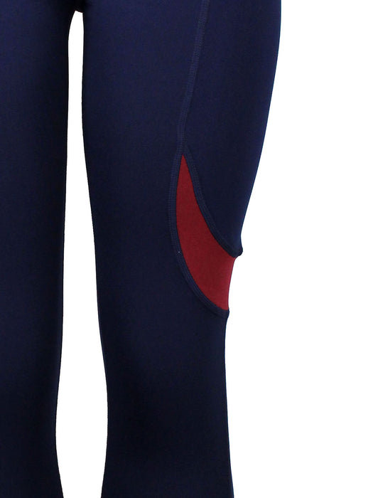 Active Pants Two Tone NAVY/BURGUNDY