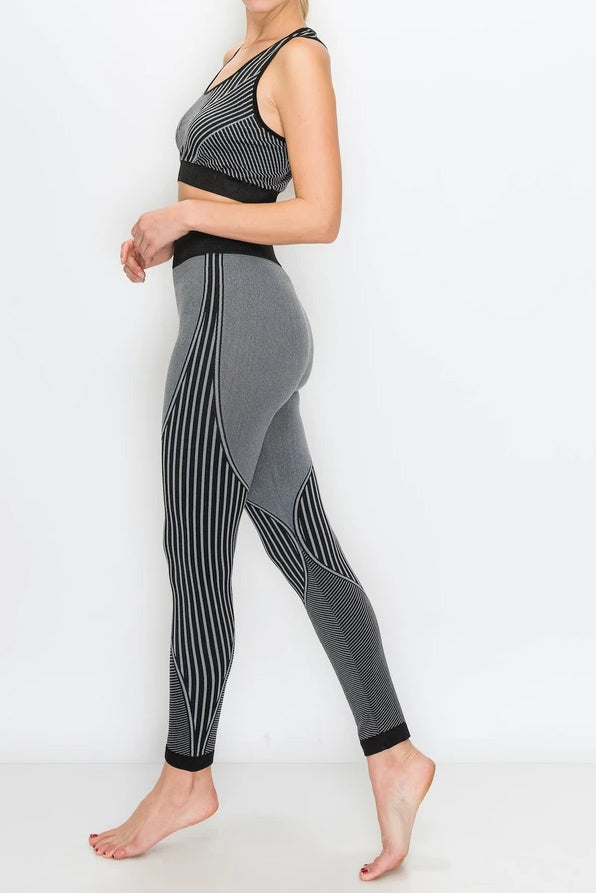 Seamless Sports Racerback Top with Legging 2 pc Set