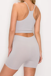 Ribbed Seamless Racerback Tank & Bike Shorts