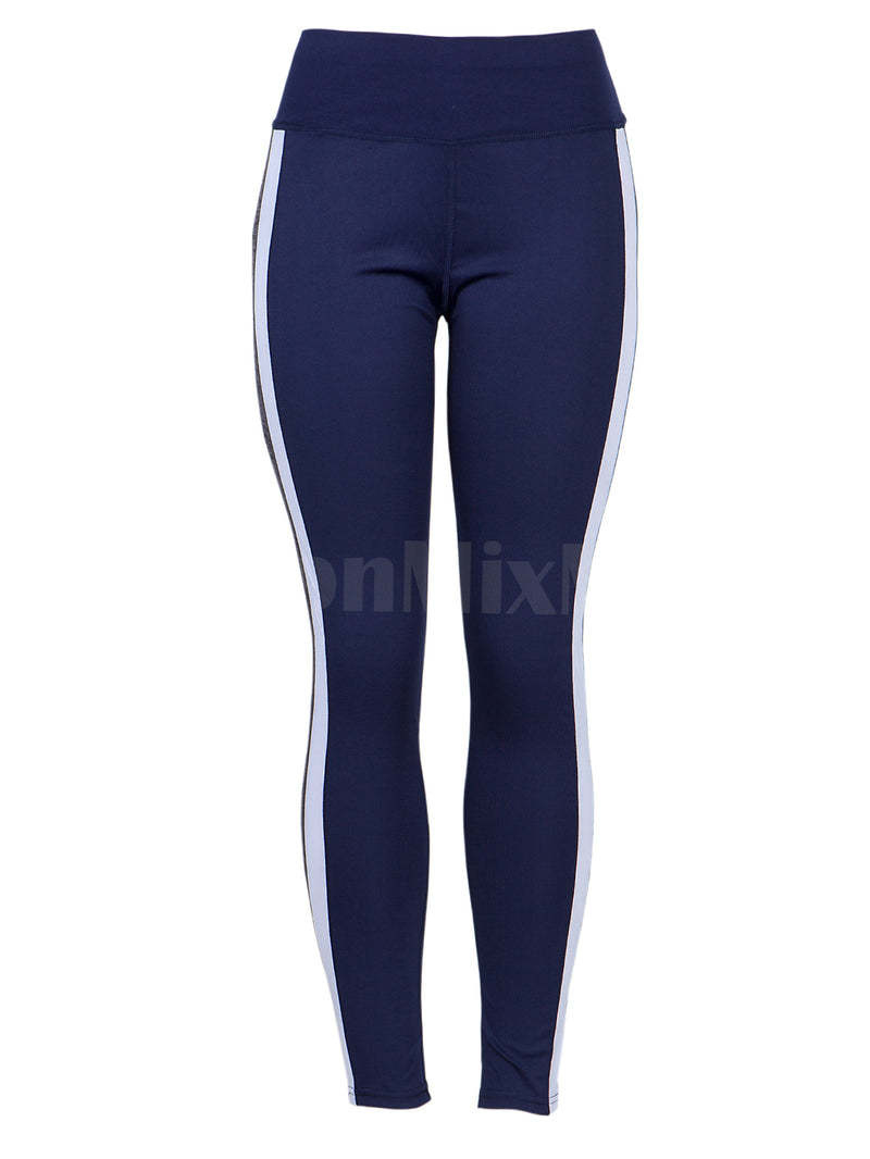 Fit 2 Tone Side Stripe Active Pants Leggings