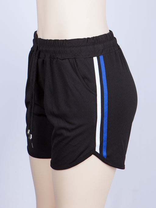 2 Colors Side Line Dolphin Hem Sports Shorts | 2 Colors