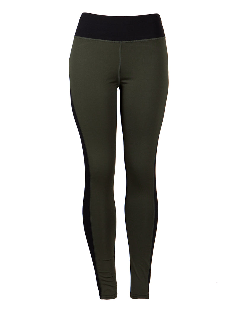 Fit 2 Tone Color Detail Active Leggings