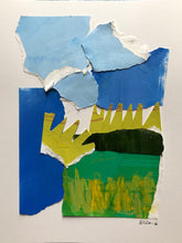 "Abstract Landscape Collage, ""Marsh Number Six"", SOLD"
