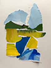 "Abstract Landscape Collage, ""Marsh Number Four"", SOLD"