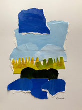 "Abstract Landscape Collage, ""Marsh Number Two"""
