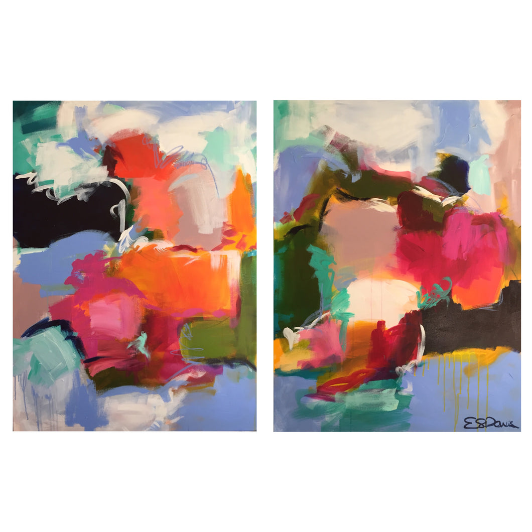 40x30 (each) diptych, acrylic on canvas