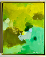 """Monochromatic One, Chartreuse"" 30x24"