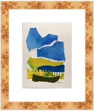 "Abstract Landscape Collage, ""Marsh Number Five"", SOLD"