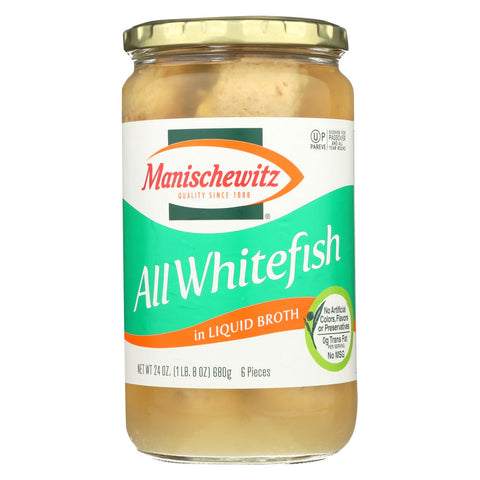 Manischewitz - All Whitefish Liquid - Case Of 12 - 24 Oz.