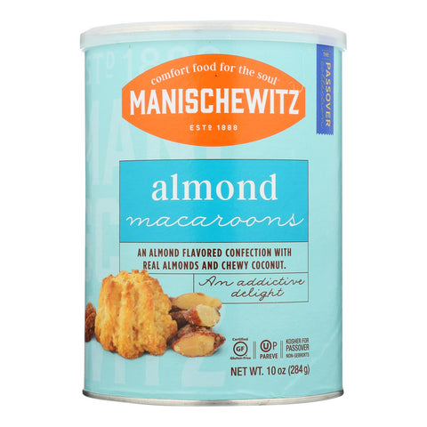 Manischewitz - Macaroon Almond Passover - Case Of 12-10 Oz